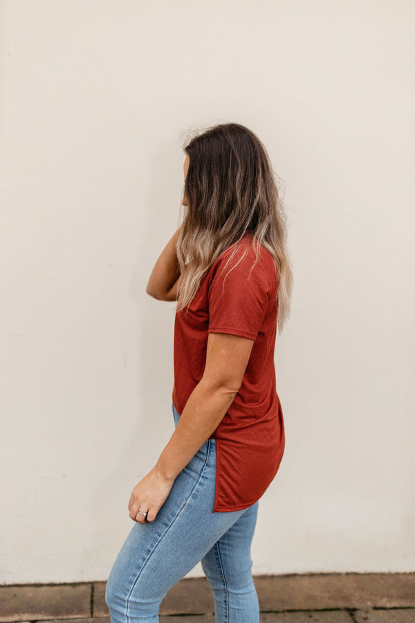 women's brick lightweight short sleeve tee