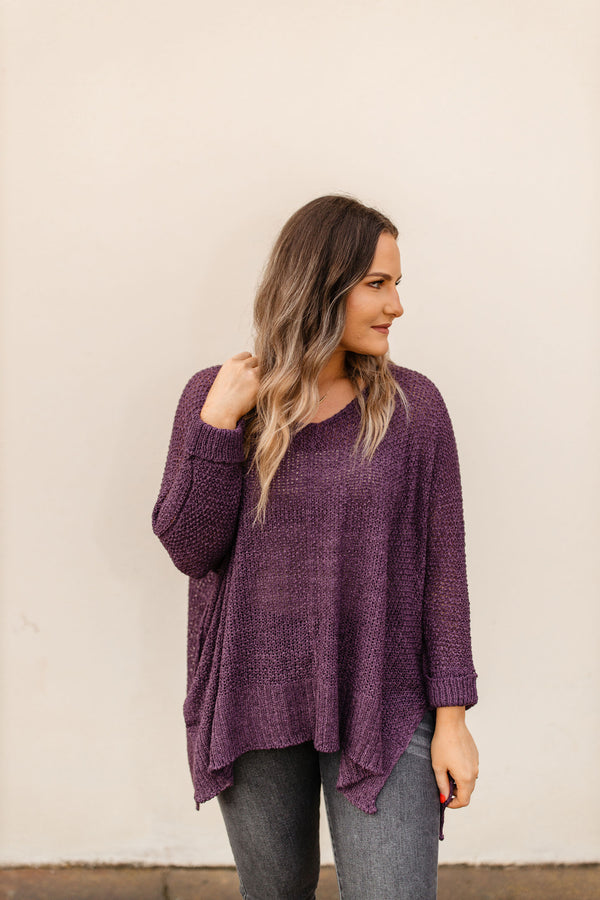'What You Wanted' Sweater - Plum