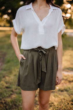 'Under the Radar' Shorts - Olive