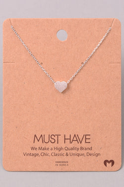 Dainty Heart Necklace - Silver