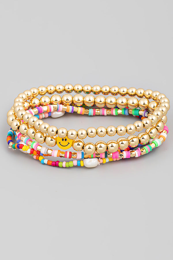 Smiley Bracelet Set