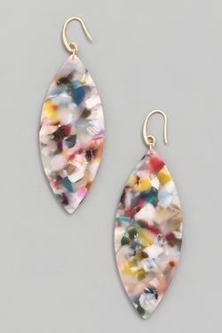 Acetate Oval Drop Earrings