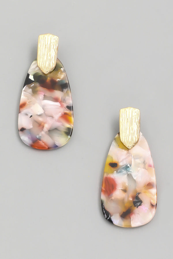 Acetate Drop Earrings - Multi