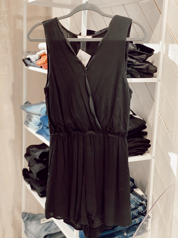'What's Not to Love' Romper - Black