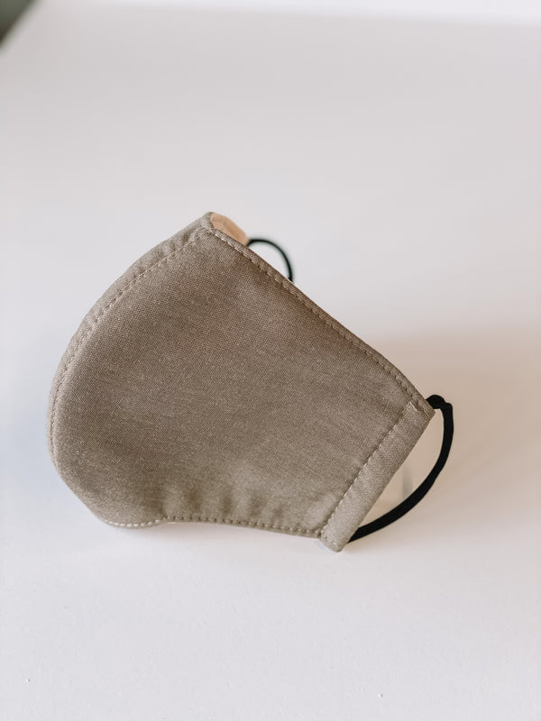 Face Mask - Sand Chambray