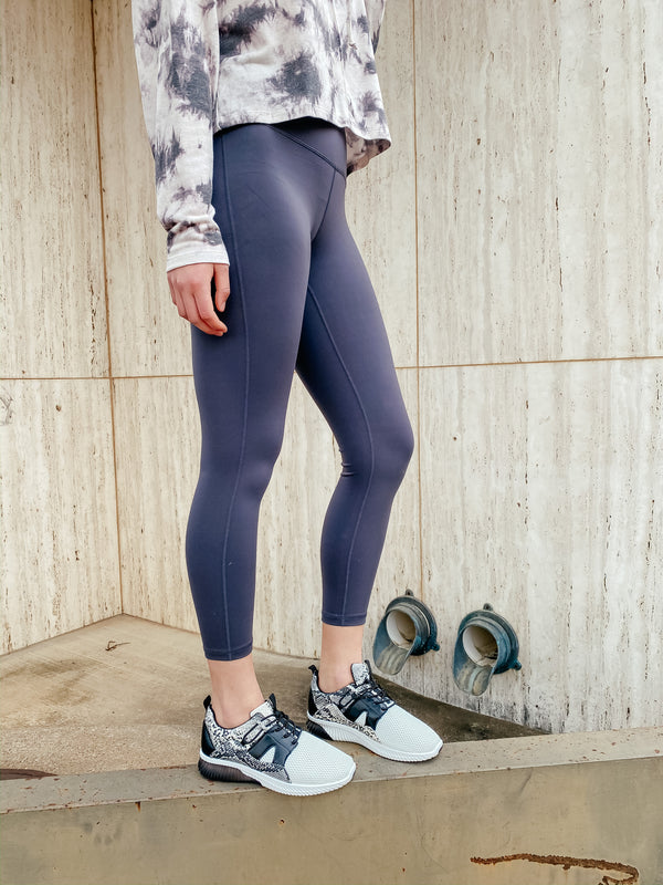 'No Days Off' Leggings - Gray