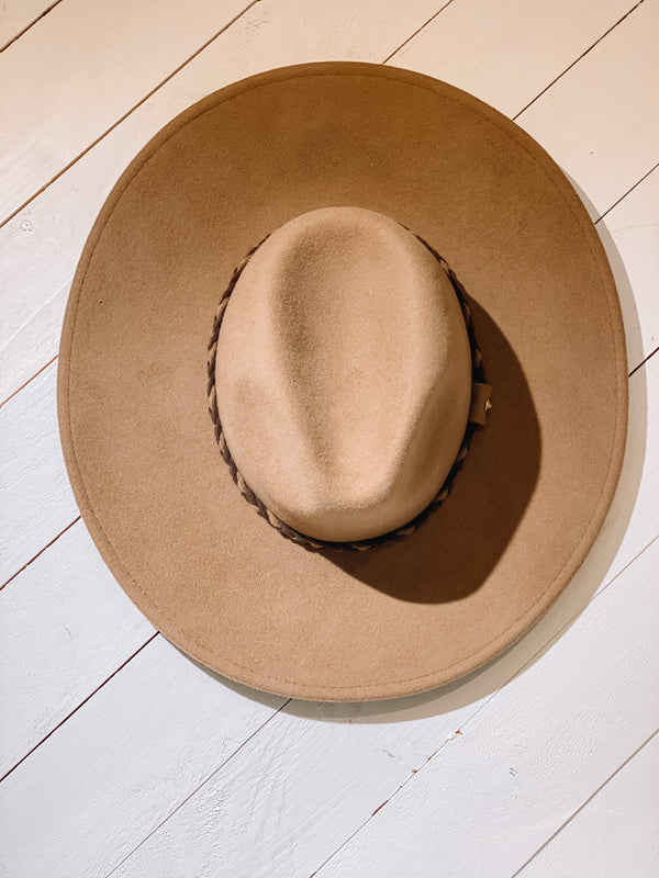 Braided Wool Panama Hat - Pecan