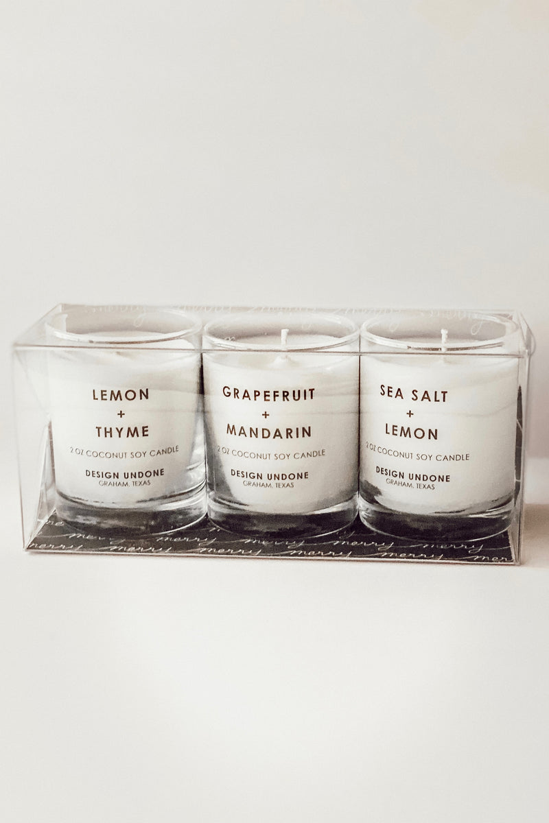 Candle Gift Set - Clean Scented