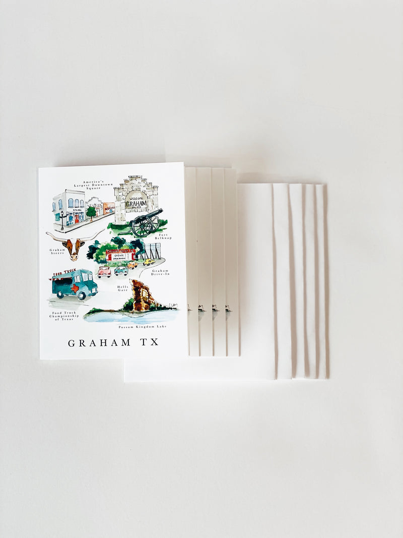 Graham, TX Notecards (Set of 5)