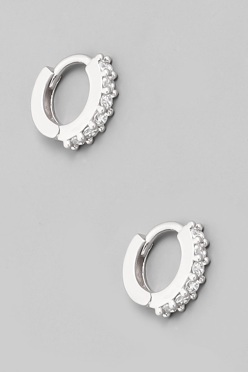 Mini Huggie Earrings - Silver