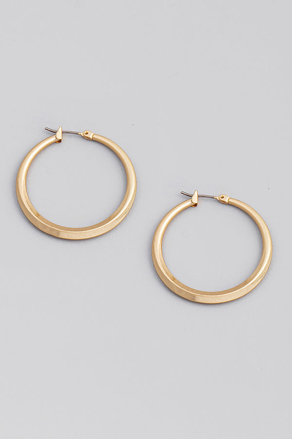 Hoop Latch Earrings