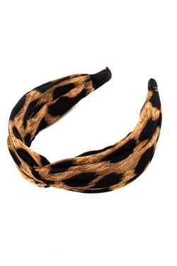 Knotted Headband - Classic Leopard