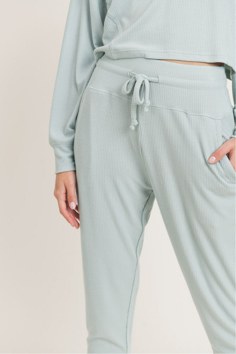 'All About Comfort' Joggers - Sage