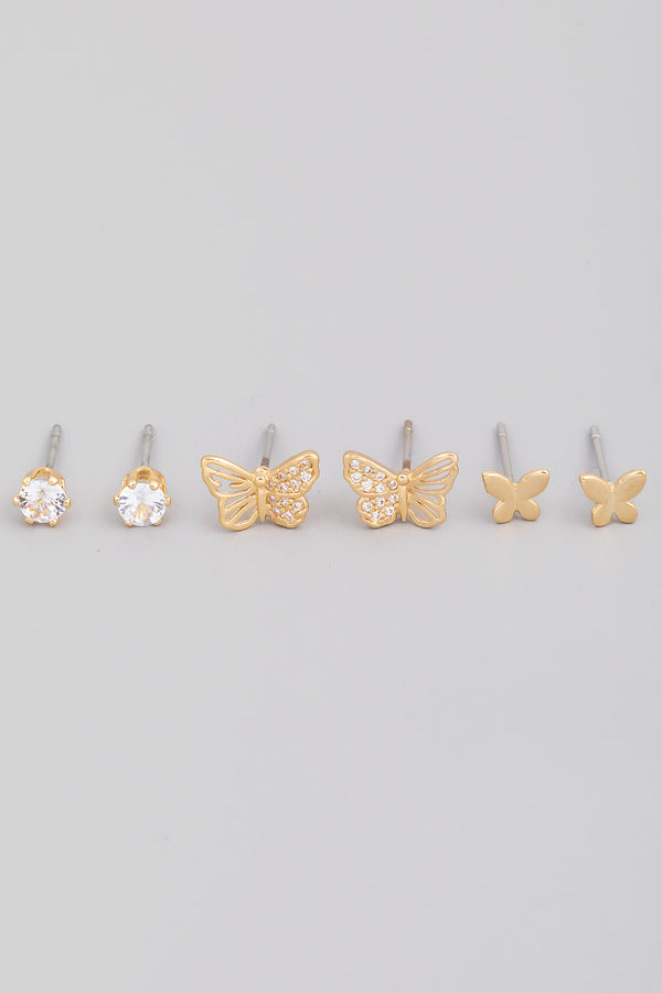 Butterfly Earring Set