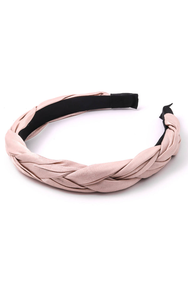 Braided Headband - Dusty Pink