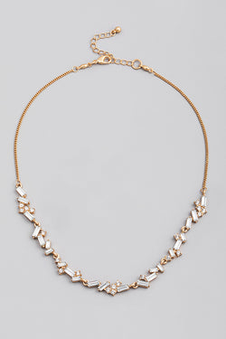 Baguette Chain Necklace - Gold