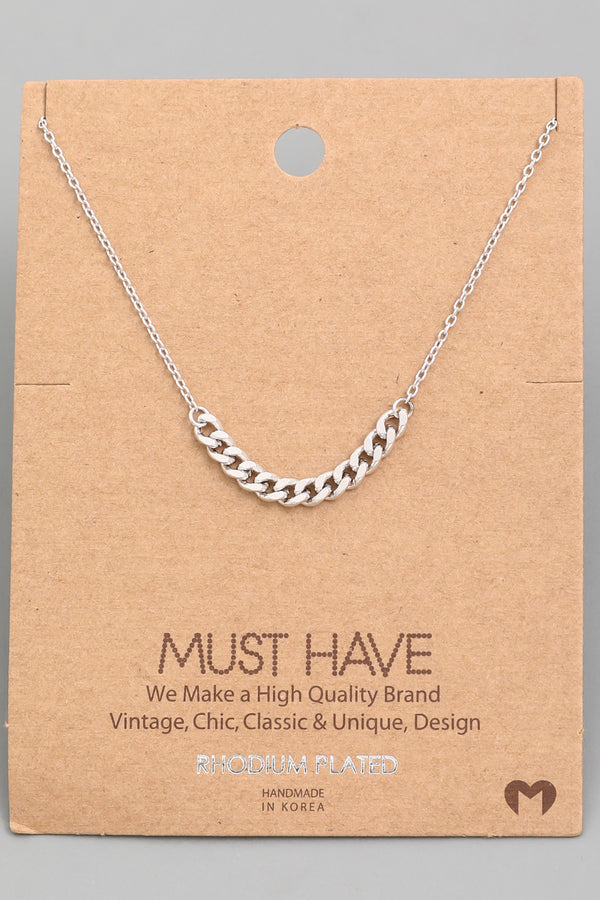 Chain Link Necklace - Silver