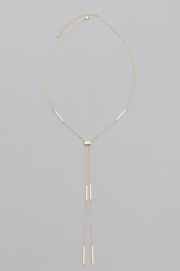 Dainty Lariat Necklace - Gold