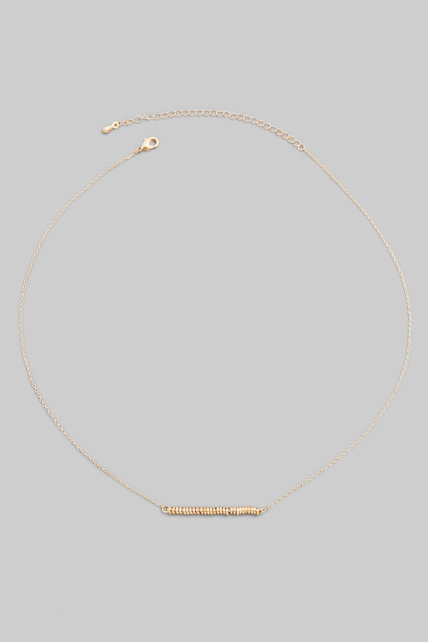 Dainty Bar Necklace - Gold