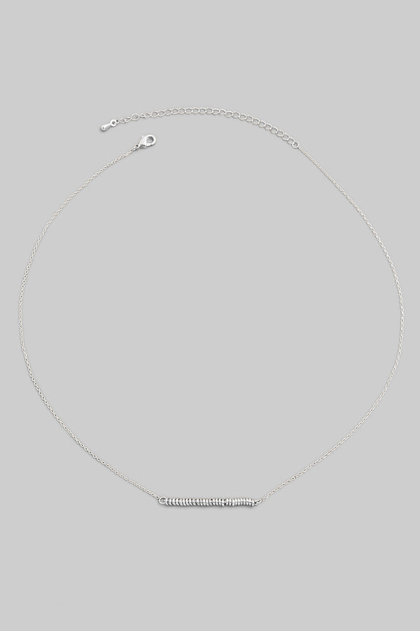 Dainty Bar Necklace - Silver