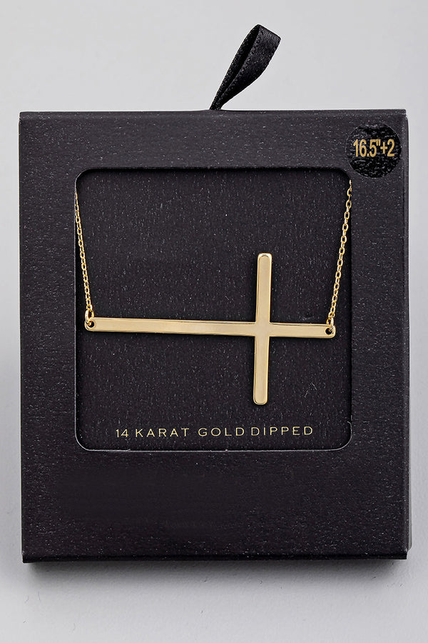 Cross Pendant Necklace - Gold