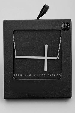 Cross Pendant Necklace - Silver