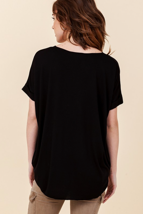 'Not to Be Basic' Top - Black