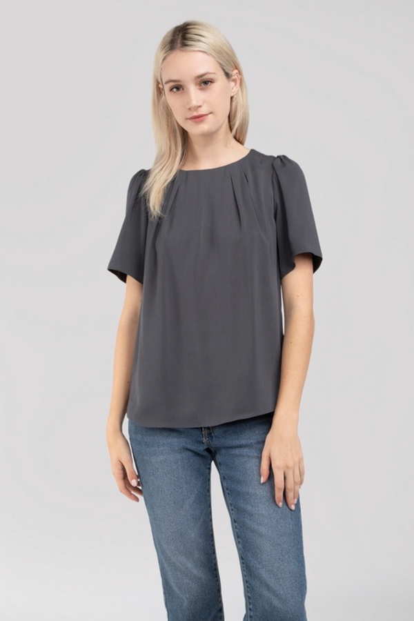 'Easy Come, Easy Go' Top - Charcoal