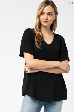 'Look for This' Top - Black