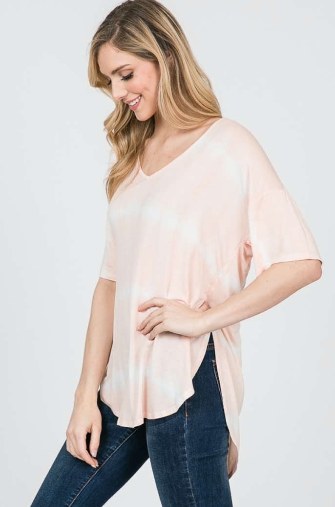'Dye for You' Top - Peach