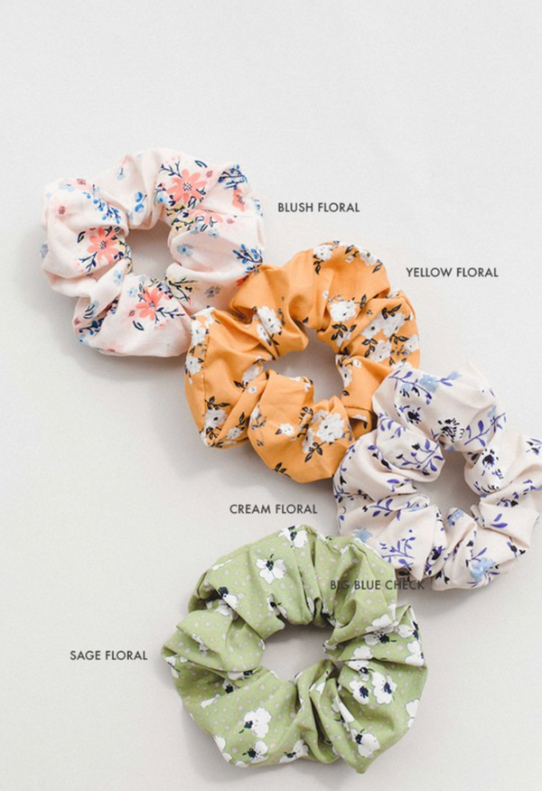 Scrunchie - Cream Floral
