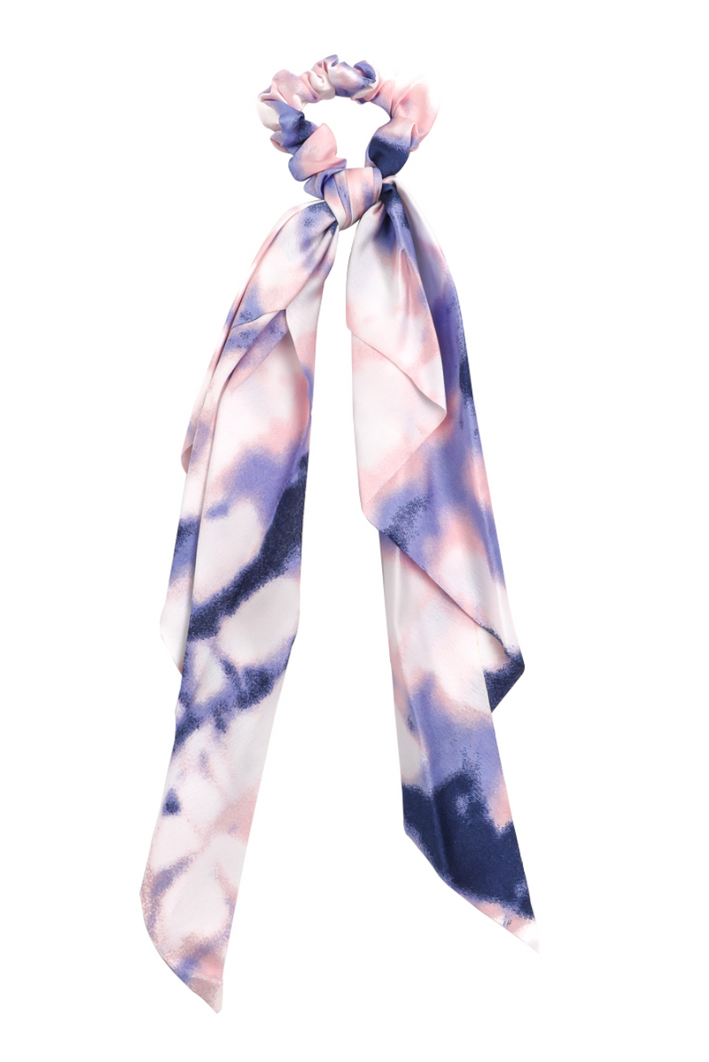 Scrunchie Scarf - Navy/Purple