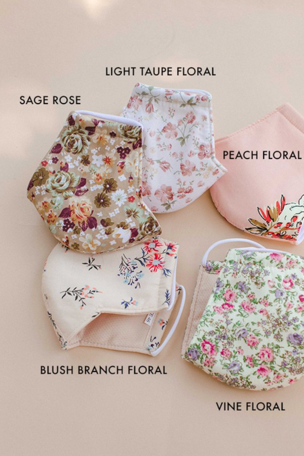 Face Mask - Blush Branch Floral