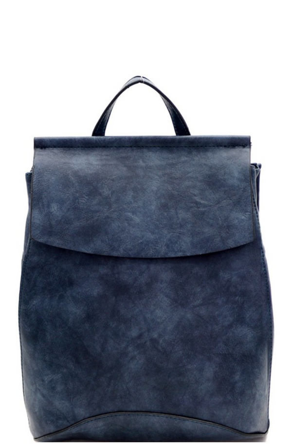 'Saved for Later' Convertible Bag - Navy Blue