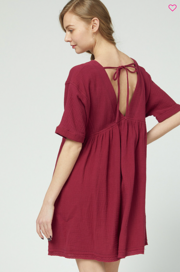 'Learn to Love' Dress - Wine