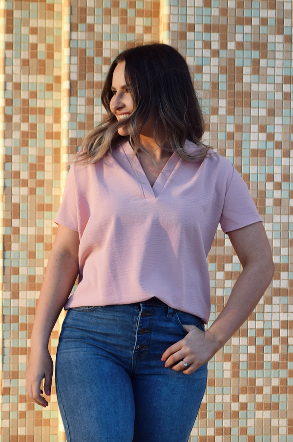 'Simple Favor' Top - Pink