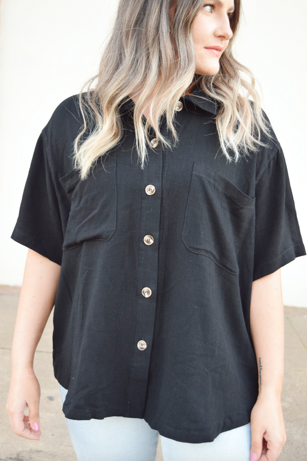'Take Me There' Top - Black