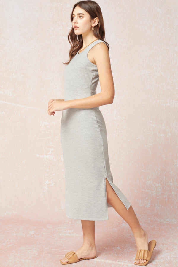 'Once Again' Dress - Heather Gray