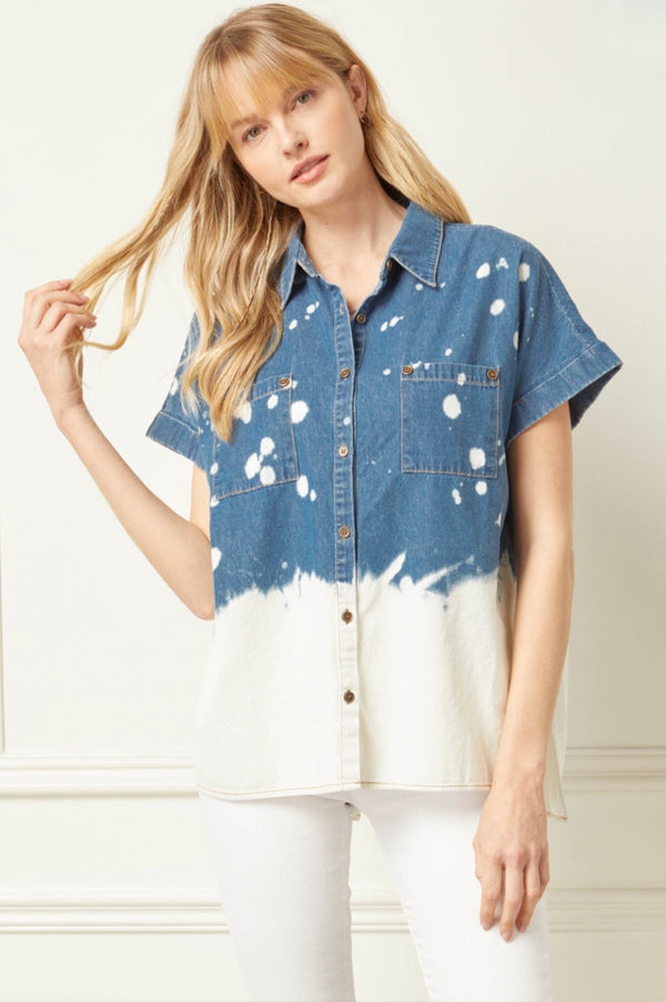 'Denim + Daisies' Top