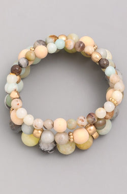 Jeju Bracelet Set - Earth
