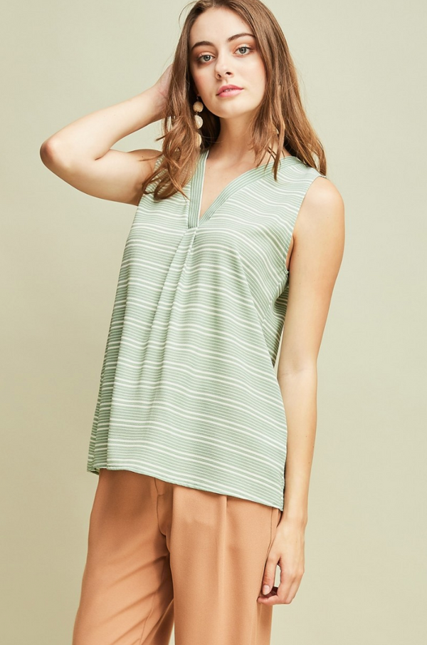 'Just for Summer' Top - Sage