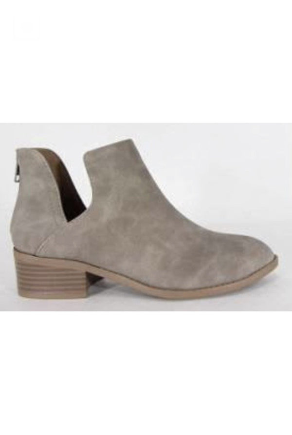 'Testing' Booties - Taupe