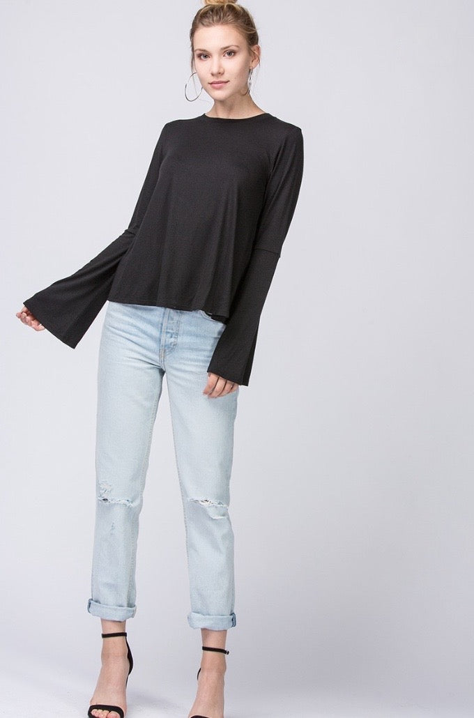 'Secret Answer' Top - Black
