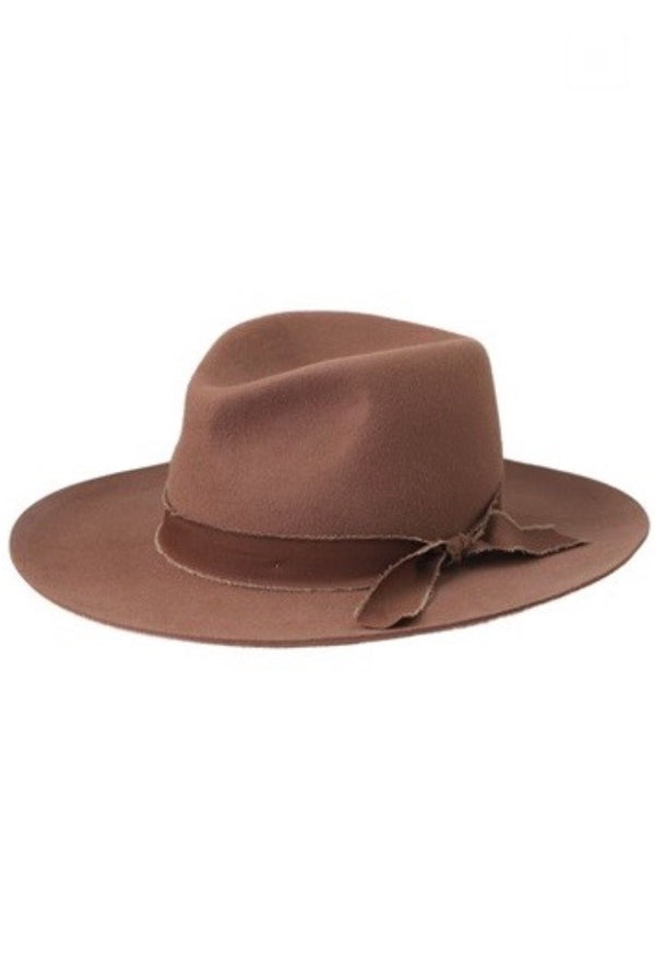 'Billie' Felt Hat - Pecan