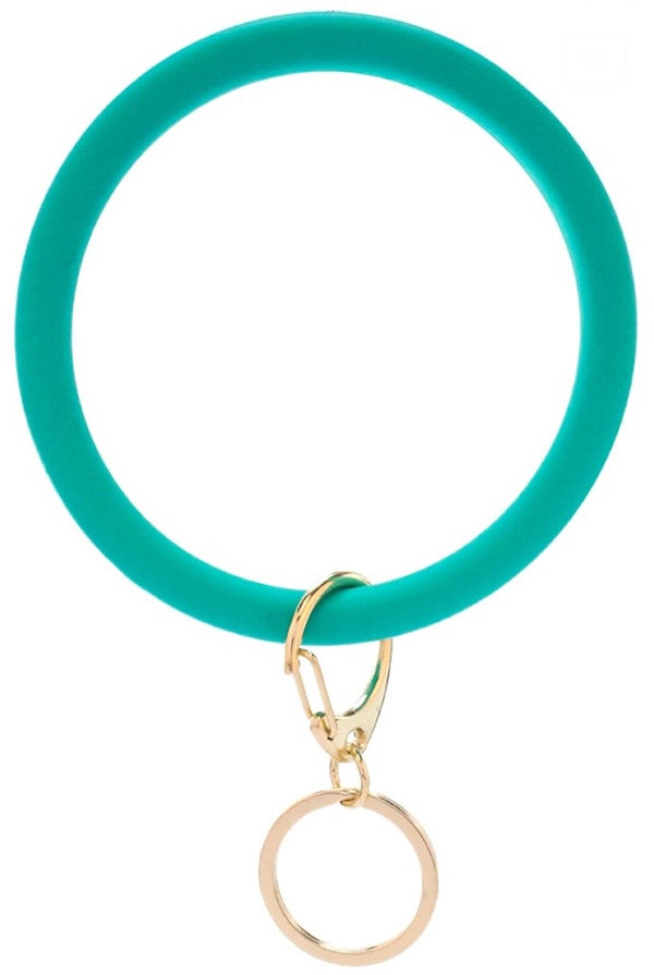 Silicone Key Ring - Mint