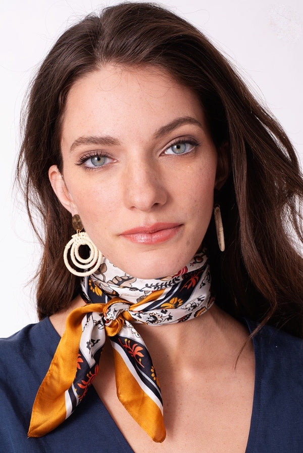 Neckerchief - Mustard Multi