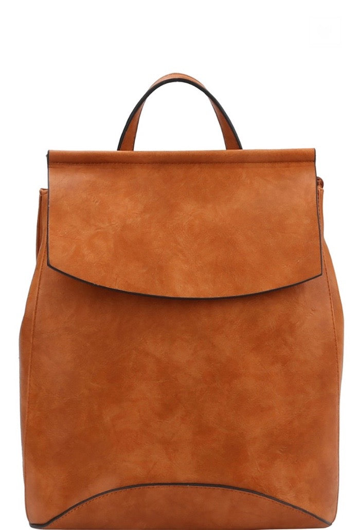 'Saved for Later' Convertible Bag - Cognac