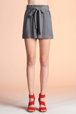 'Dare To' Shorts - Charcoal