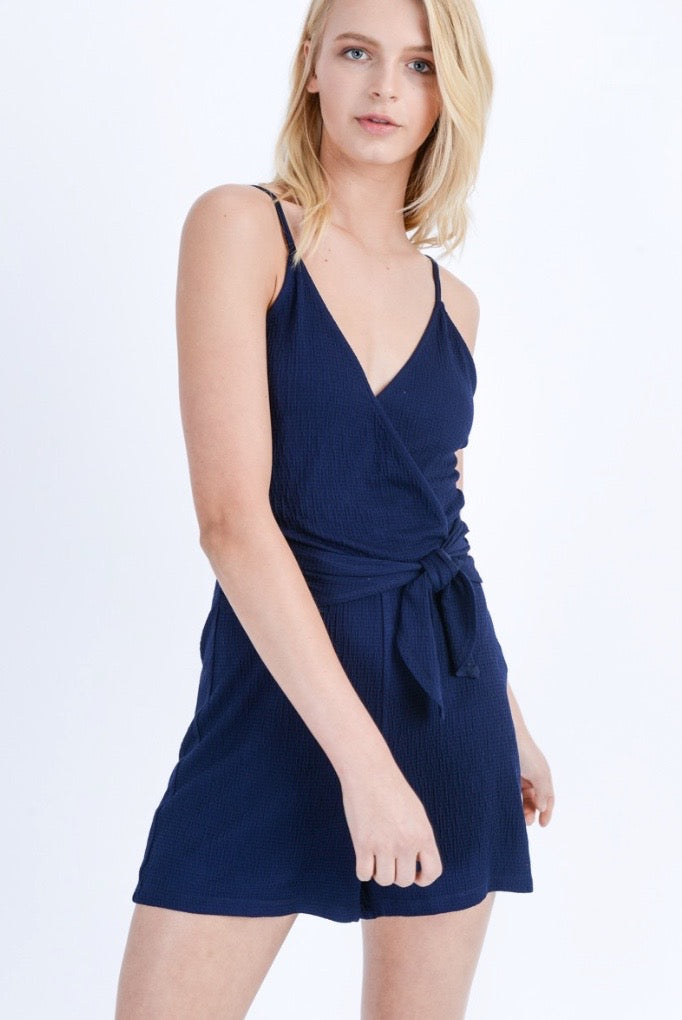 'Here Today' Romper - Navy