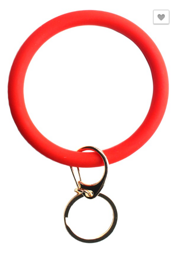 Silicone Key Ring - Red